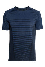 Seamless running top - Dark blue marl - Men | H&M CN 2