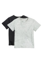 Lot de 2 T-shirts - Noir - ENFANT | H&M FR 2