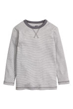 Long-sleeved T-shirt - Grey/Fine stripe - Kids | H&M CN 2