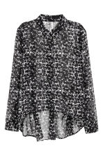 Chiffon shirt - Black/White/Patterned - Ladies | H&M CN 2