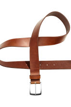 Leather belt - Dark cognac brown - Men | H&M 3