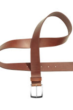 Leather belt - Dark cognac brown - Men | H&M 4