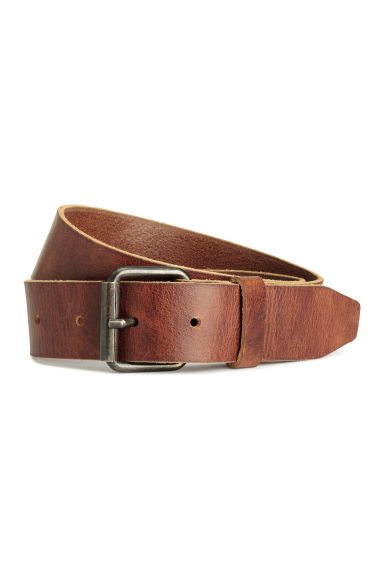 Cintura in pelle - Marrone cognac - UOMO | H&M IT 1