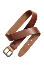 Leather belt - Cognac brown - Men | H&M CN 2