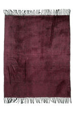 Herringbone-patterned blanket - Burgundy - Home All | H&M CN 2