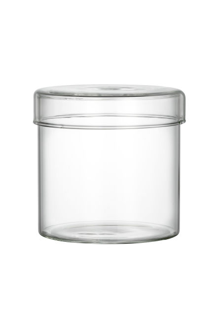 Glass box with a lid