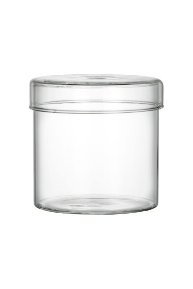 Glass box with a lid - Clear glass - Home All | H&M CN 1