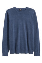 Fine-knit cotton jumper - Blue marl - Men | H&M CN 2