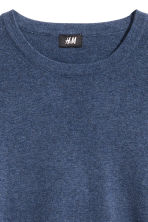 Fine-knit cotton jumper - Blue marl - Men | H&M CN 3