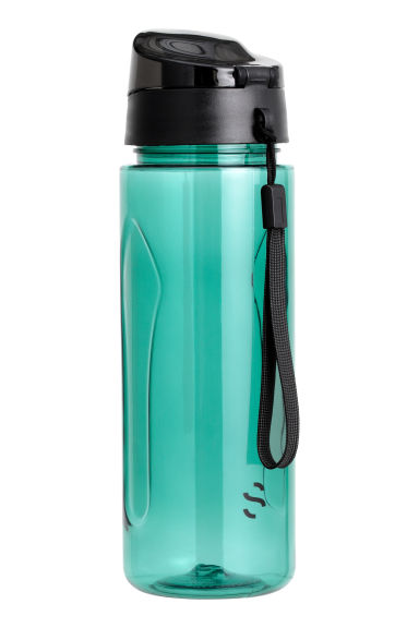Water bottle with lid - Turquoise -  | H&M CN 1