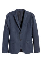 Blazer in misto lino - Blu scuro - UOMO | H&M IT 2