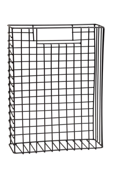 Metal magazine rack - Black - Home All | H&M CA 1