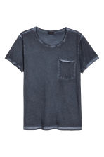 T-shirt with raw edges - Dark blue - Men | H&M CN 2