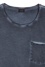 T-shirt with raw edges - Dark blue - Men | H&M CN 3