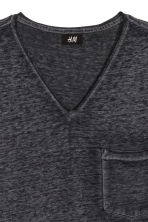 T-shirt with raw edges - Black marl - Men | H&M CN 3