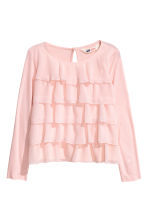 Long-sleeved tiered top - Light pink - Kids | H&M CN 2