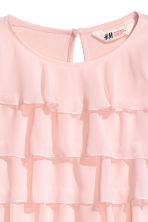 Long-sleeved tiered top - Light pink - Kids | H&M CN 3