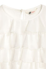 Long-sleeved tiered top - White - Kids | H&M CN 3