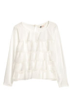 Long-sleeved tiered top - White - Kids | H&M CN 2