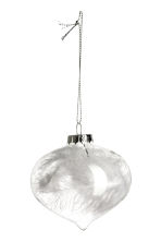 2-pack Christmas tree baubles - Clear glass/White - Home All | H&M IE 2