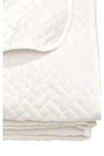 Quilted bedspread single - White - Home All | H&M CN 2