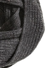 Rib-knit tube scarf - Dark grey - Men | H&M 3