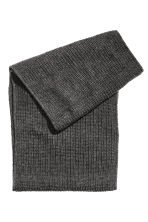 Rib-knit tube scarf - Dark grey - Men | H&M 2