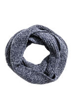 Rib-knit tube scarf - Dark blue marl - Men | H&M CN 1
