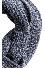 Rib-knit tube scarf - Dark blue marl - Men | H&M CN 2