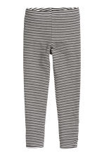 Jersey leggings - Black/White/Striped - Kids | H&M CN 2