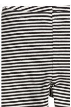 Jersey leggings - Black/White/Striped - Kids | H&M CN 3