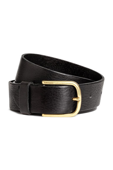Cintura in pelle - Nero -  | H&M IT 1