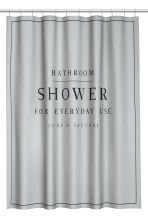 Rideau de douche - Gris clair - Home All | H&M FR 1