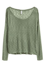 Jersey top - Khaki green marl - Ladies | H&M 2