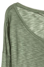 Jersey top - Khaki green marl - Ladies | H&M 4