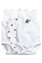 3件入無袖連身衣 - White/elephant - Kids | H&M 1