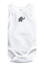3件入無袖連身衣 - White/elephant - Kids | H&M 2