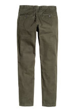 Chinos Slim fit - Dark khaki green - Men | H&M CN 3