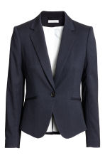 Fitted jacket - Dark blue/Patterned - Ladies | H&M 2