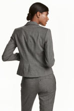 Fitted jacket - Dark grey/Patterned - Ladies | H&M GB 4