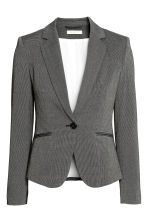 Fitted jacket - Dark grey/Patterned - Ladies | H&M GB 2