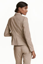 Fitted jacket - Beige/Checked - Ladies | H&M GB 4