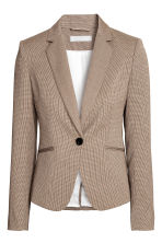 Fitted jacket - Beige/Checked - Ladies | H&M GB 2