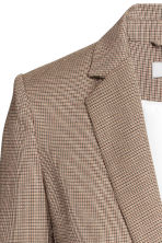 Fitted jacket - Beige/Checked - Ladies | H&M GB 5