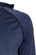 Seamless hooded running top - Dark blue marl - Men | H&M CN 4