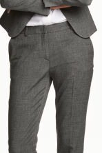 Suit trousers - Dark grey/Patterned - Ladies | H&M CN 3