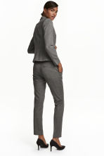 Suit trousers - Dark grey/Patterned - Ladies | H&M CN 4