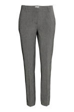 Suit trousers - Dark grey/Patterned - Ladies | H&M CN 2