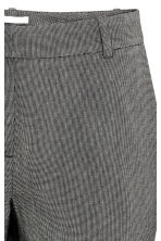 Suit trousers - Dark grey/Patterned - Ladies | H&M CN 5