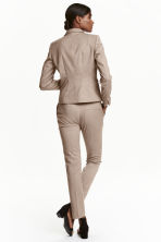 Suit trousers - Beige/Checked - Ladies | H&M CN 4